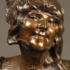 Bronze bust of gypsy woman by Benthous A1165B