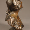Bronze bust of gypsy woman by Benthous A1165C
