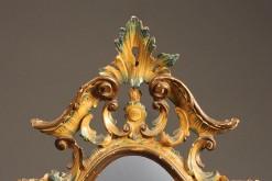 Polychromed Venetian mirror A1447B