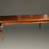 Custom 18th century style French cherry farmhouse table with cabriolet legs