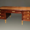 French satinwood and prima vera mahogany, Napoleon III partners desk A2251A