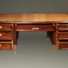 French satinwood and prima vera mahogany, Napoleon III partners desk A2251B