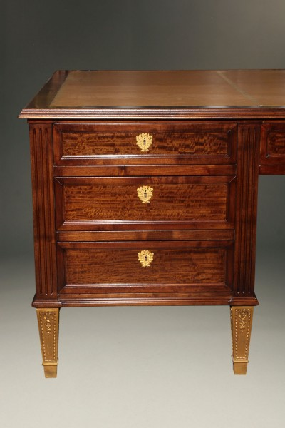 French satinwood and prima vera mahogany, Napoleon III partners desk A2251D