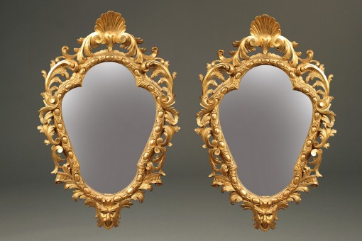 Pair of Italian gilded mirrors A2258A