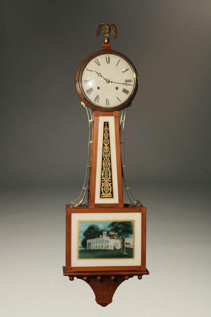 A2288A-new haven-banjo-antique-clock