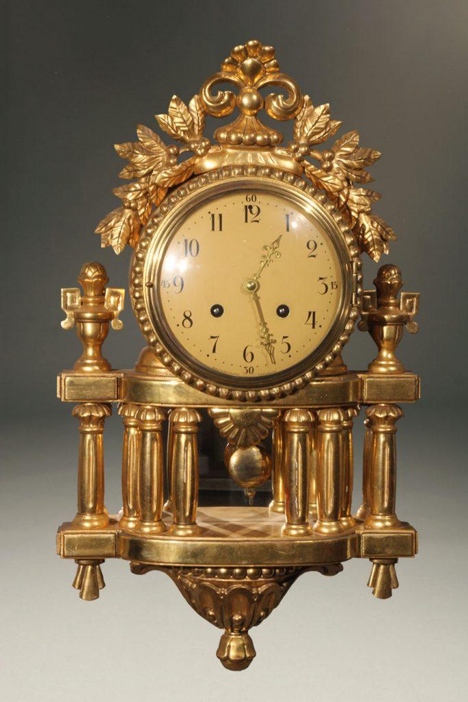 A2291A-louis XVI-clock-wall-gilded
