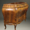 19th century Italian bombe commode in burr walnut, circa 1890 A2435B