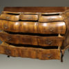 19th century Italian bombe commode in burr walnut, circa 1890 A2435C