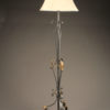 Scroll and leaf iron floor lamp, French A3006A