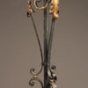 Scroll and leaf iron floor lamp, French A3006C