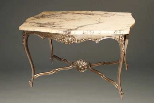 Antique Louis XV style marble top table A3338A