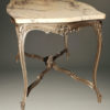 Antique Louis XV style marble top table A3338B