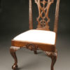 Late 19th Century Set of Six Antique Chippendale Style Side Chairs with Ball and Claw Feet A3572A
