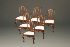 Late 19th Century Set of Six Antique Chippendale Style Side Chairs with Ball and Claw Feet A3572B