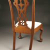 Late 19th Century Set of Six Antique Chippendale Style Side Chairs with Ball and Claw Feet A3572D