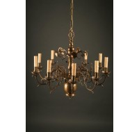 Bronze 8 arm antique Dutch chandelier A5048A