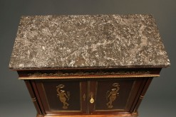 Antique French Empire Style Antique Buffet With Marble Top -top view