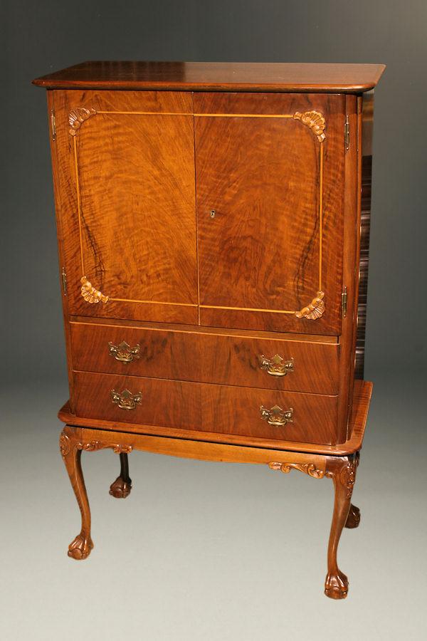 French Art Nouveau Style Liquor Cabinet