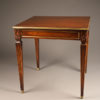 Antique French Louis XVI style mahogany end table A5219A1