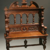 19th century hand carved oak bench in oak A5221A1