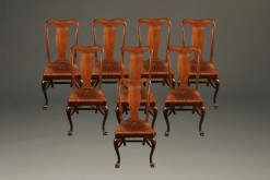 Set of 8 antique mahogany chairs with claw feet A5226A1