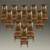 Set of 12 antique high back chairs A5227A1