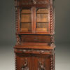 19th century French Buffet du Corps in hand carved oak A5230A1