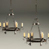 Pair of mid 19th century iron antique chandeliers A5238A1