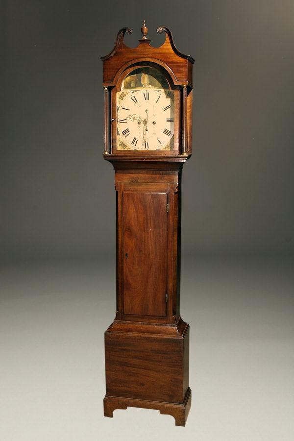 19th century antique English tall case clock A5268A1