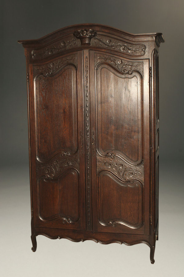 Early 20th century antique Marriage armoire A5271A1