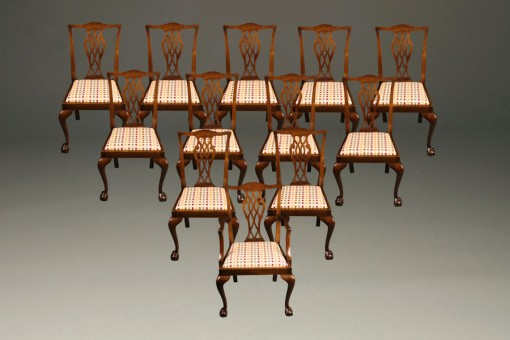 Set of 12 antique Chippendale chairs A5281A1