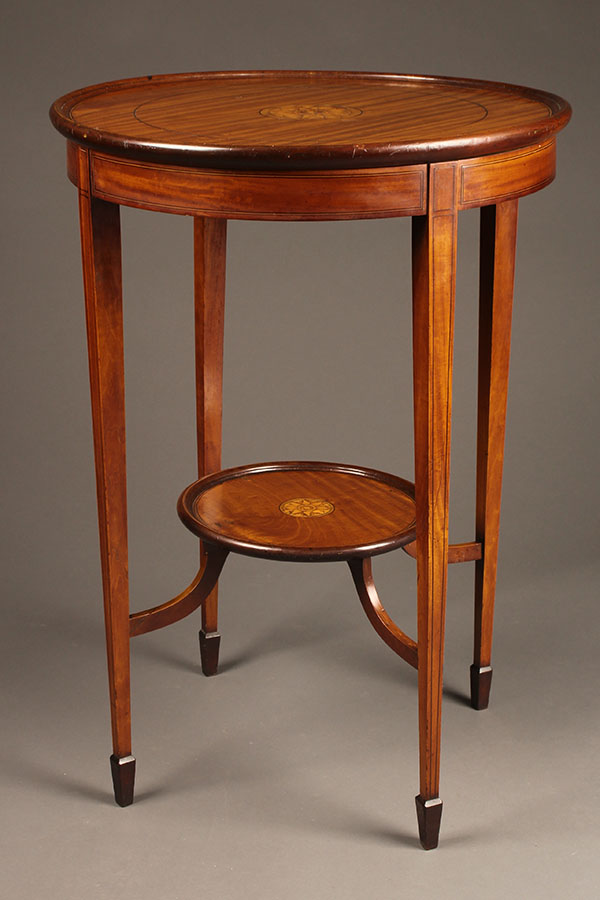Round Antique Mahogany Lamp Table, Antique Lamp Tables