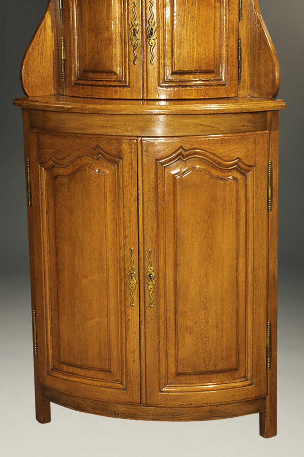 Antique country French corner cabinet.