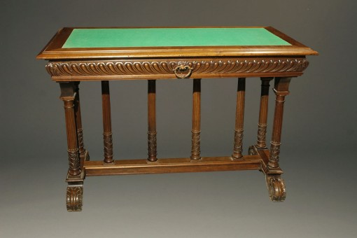 Antique French writing table with felt top A5347A1