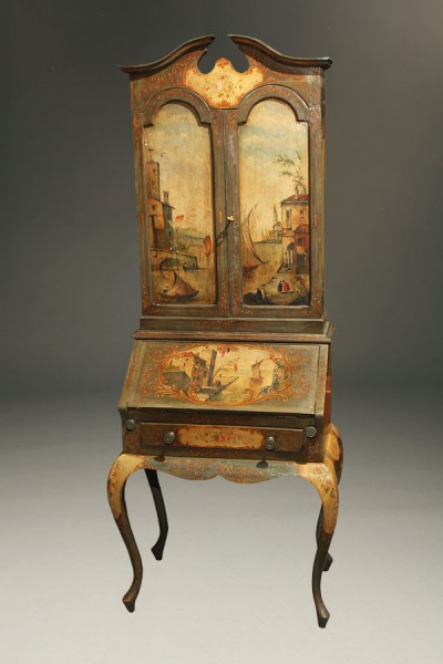 A5370A-antique-italian-secretary-polychrome-painted1