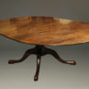 A5377E-english-round-leaves-dining-table-walnut