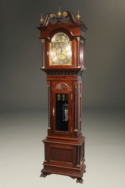 Tall case clock with movement by Elliott, case by Durfee A5473A
