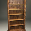 Heavily carved Belgian oak bookcase with adjustable shelves, circa 1890