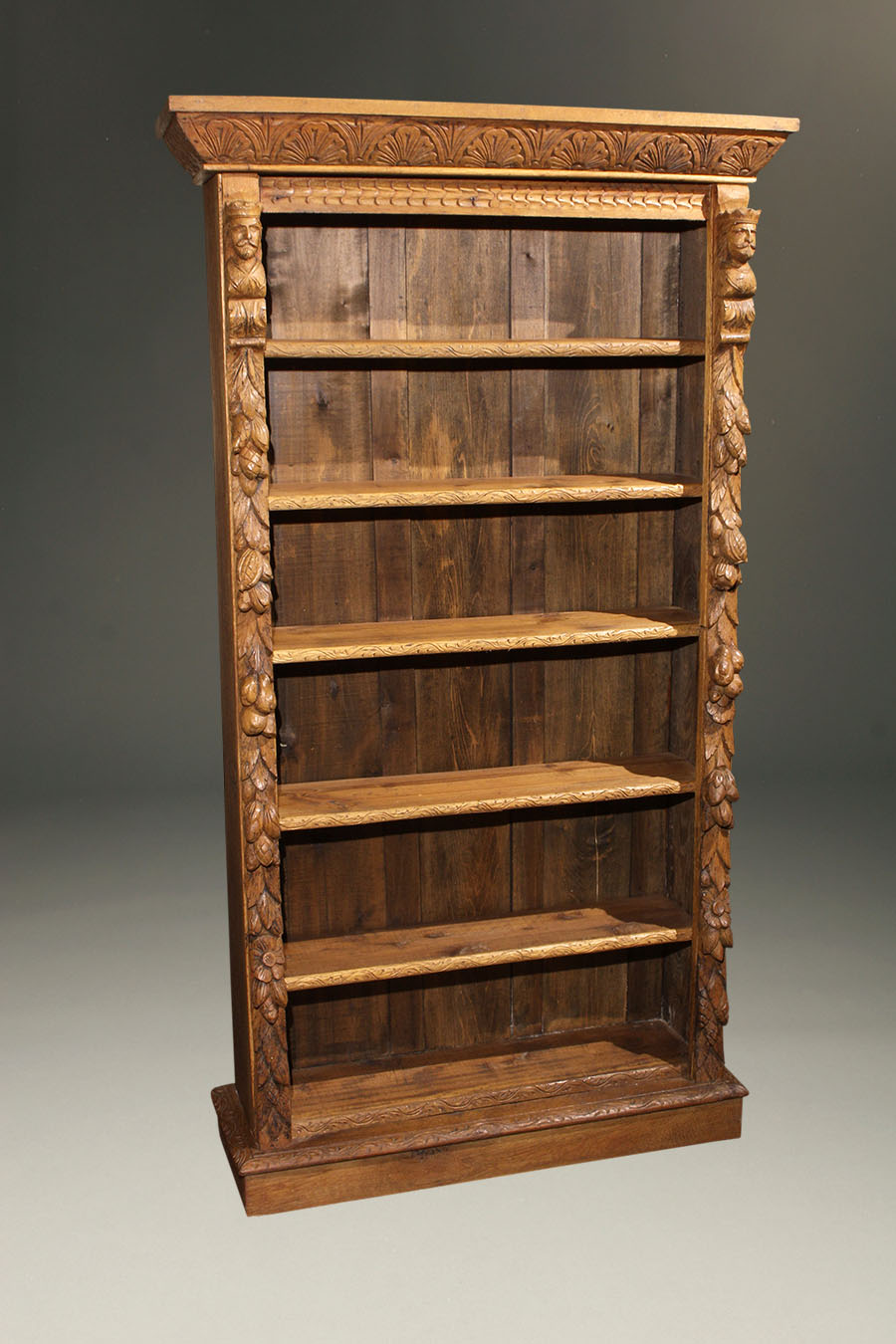 Hunt Carved Oak Bookcase Belgian Or French