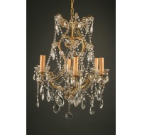 antique italian 6 arm chandelier