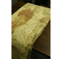 19th century Belgian tapestry with romantic scene