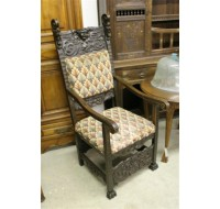 19th century German high back arm chair