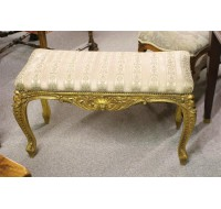 19th century Gilded bench Louis XV style, circa 1890