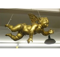 Mid 18th century gilded Italian cupid hand carved, circa 1760