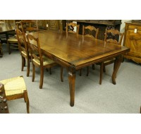 Country French drawleaf farmhouse table in cherry, custom