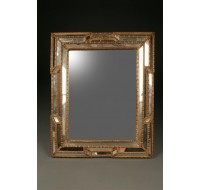 French gold gilt multi-panneled mirror