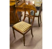 Set of four English 19th century Regency period chairs, circa 1820
