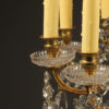 Antique Crystal and bronze 12 arm chandelier.