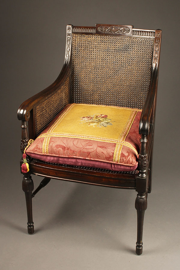 Antique Adams style arm chair.