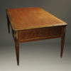 Antique Louis XVI style partner's desk.